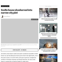 Svelte house shoehorned into narrow city plot