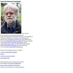 Sven Ove Hansson's homepage
