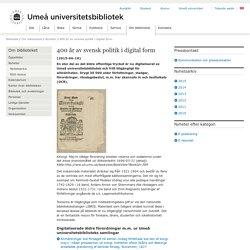 400 år av svensk politik i digital form