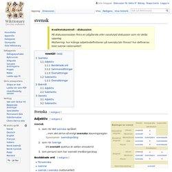 svensk - Wiktionary
