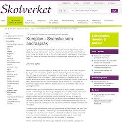 Kurs - Svenska som andraspråk (Grundskolan)