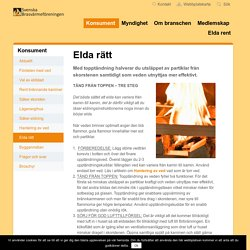 Elda rätt - Svenska Brasvärmeföreningen