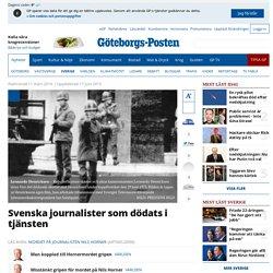 Svenska journalister som dödats i tjänsten