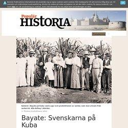 Svenska sockermiljonärer på Kuba