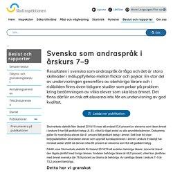 Svenska som andraspråk i årskurs 7–9