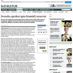 Svenska språket spås framtid i reservat