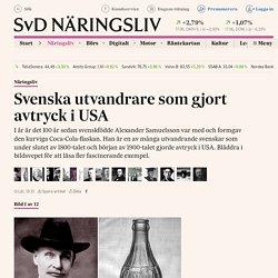 Svenska utvandrare som gjort avtryck i USA