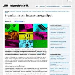 Svenskarna och internet 2013 släppt