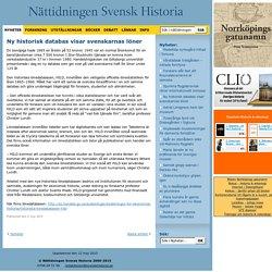 Ny historisk databas visar svenskarnas löner
