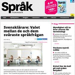 Svensklärare: Valet mellan de och dem svåraste språkfrågan