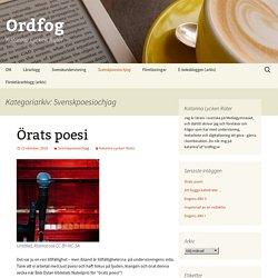 Svenskpoesiochjag