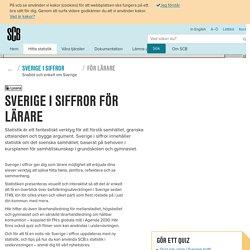 Sverige i siffror för lärare