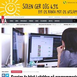 Sverige är bäst i världen på programmering – kan bero på det dåliga vädret - PROGRAMMERING