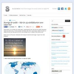 Sverige är unikt – här är 25 världskartor som visar hur