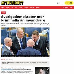 Gellert Tamas: Sverigedemokrater mer kriminella än invandrare