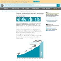 Sveriges befolkning tickar på mot 10 miljoner