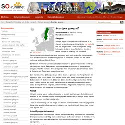 Sveriges geografi