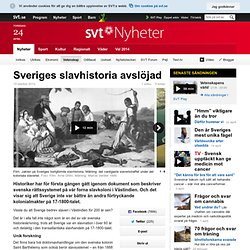 Sveriges slavhistoria avslöjad