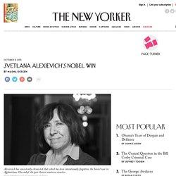 Svetlana Alexievich's Nobel Win
