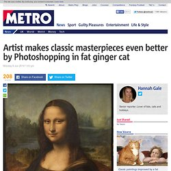 Svetlana Petrova photoshops fat ginger cat into classic paintings