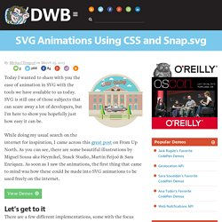 SVG Animations Using CSS and Snap.svg