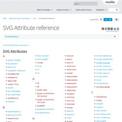 SVG Attribute reference - SVG