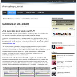Camera RAW: un primo sviluppo - Photoshop Tutorial