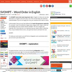 SVOMPT - Word Order in English