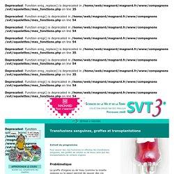 SVT 3e, site élève