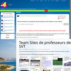 Sites de SVT réalisés par des professeurs de SVT.