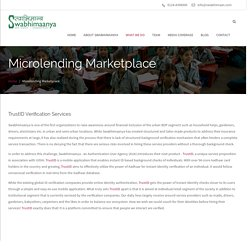 trusted Microlending Marketplace, micro finance institutions in india