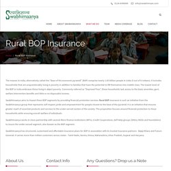 Swabhimaanya - Rural BOP Insurance