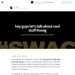 the #swag syllabus — the #swag class