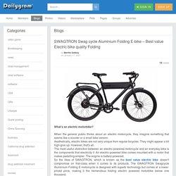 SWAGTRON Swag cycle Aluminium Folding E-bike – Best value Electric bike quality Folding