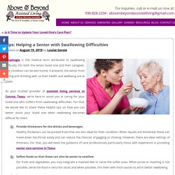 Tips: Helping a Senior with Swallowing Difficulties