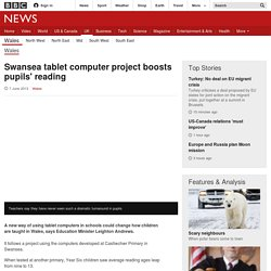 Swansea tablet computer project boosts pupils' reading