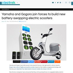 Yamaha and Gogoro join forces to build new battery-swapping electric scooters