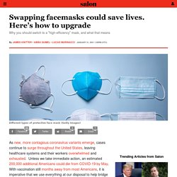 Swapping facemasks could save lives. Here's how to upgrade