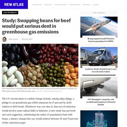 Study: Swapping beans for beef would put serious dent in greenhouse gas emissions