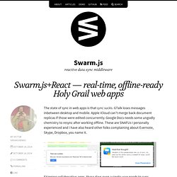 Swarm.js+React — real-time, offline-ready Holy Grail web apps – Swarm.js