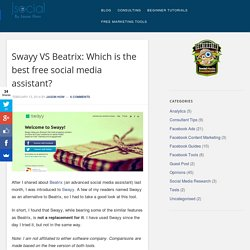 Swayy VS Beatrix: Which is the best free social media assistant?