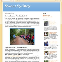 Sweat Sydney: How can Running Clubs Benefit You?