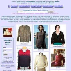 Over 200 Free Knitted Sweaters and Cardigans Knitting Patterns at AllCrafts