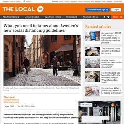 What you need to know about Sweden's new social distancing guidelines