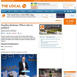 Sweden elections: Who's who in politics?