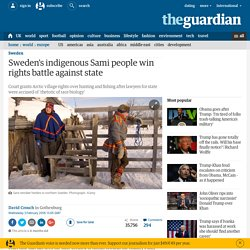 Sami people win rights battle against state
