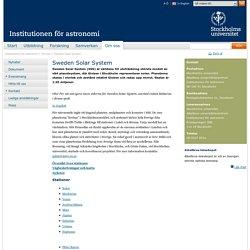 Sweden Solar System - Institutionen för astronomi