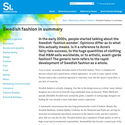 Swedish fashion in summary