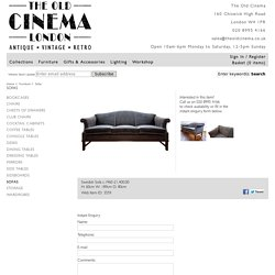 Swedish Sofa c.1960 : The Old Cinema – Antique Furniture, Vintage, Industrial, Danish, French