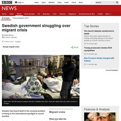 Swedish government struggling over migrant crisis